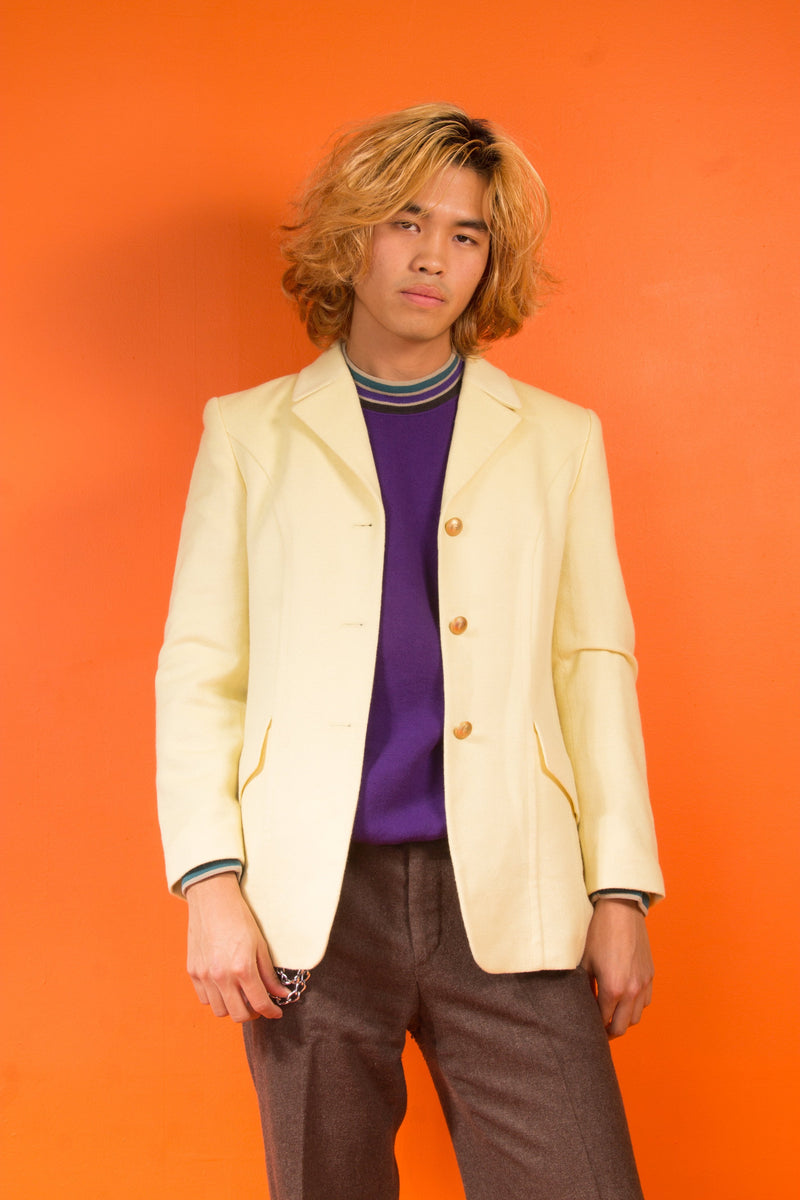 Vintage - Pale Yellow Blazer