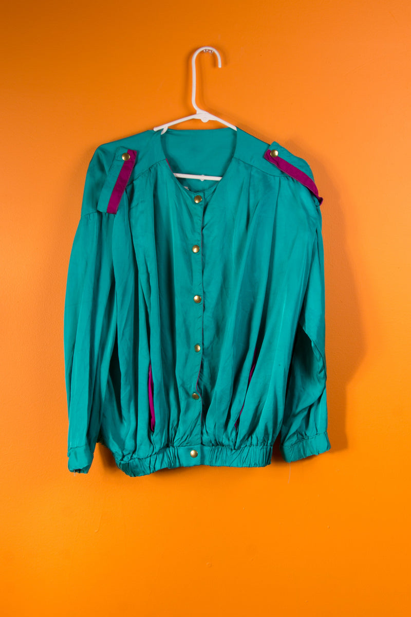 Vintage - Turquoise Snap Long Sleeve