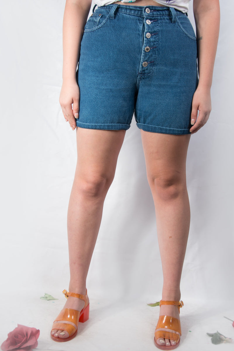 Vintage - Blue Jean Highwaist Shorts