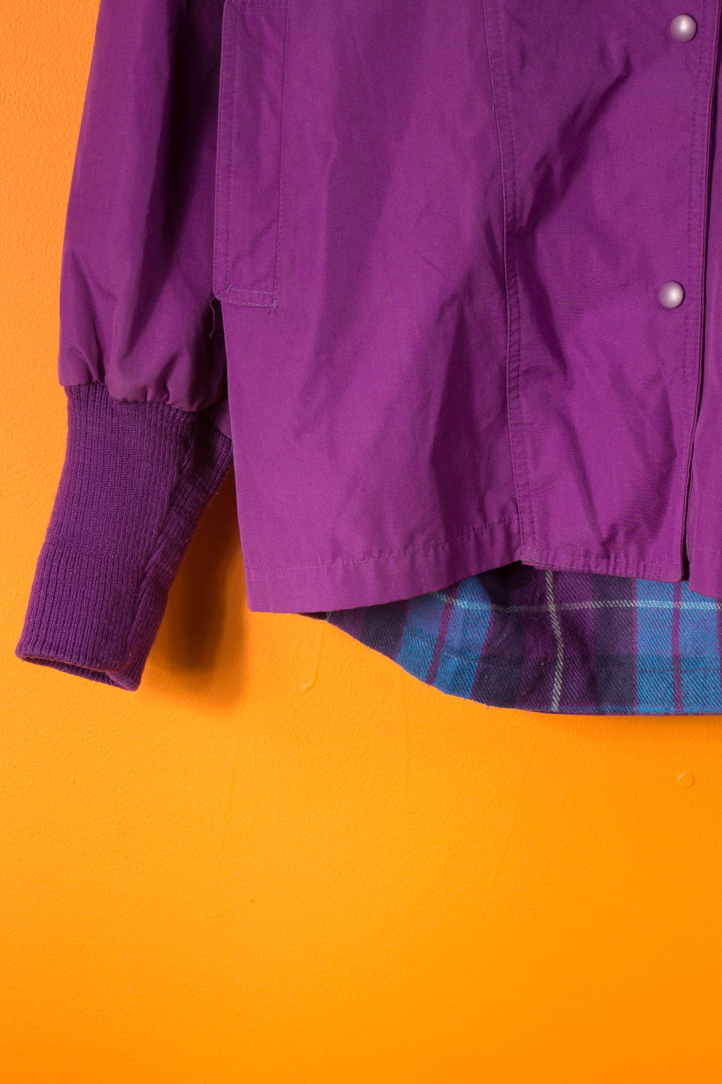 Vintage - Purple Flannel Lined Jacket