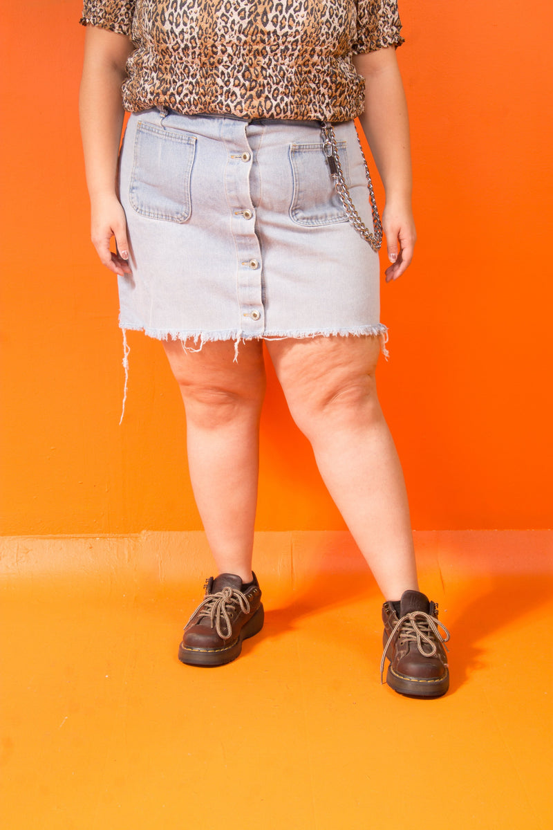 Vintage - 90's Button up Jean Skirt