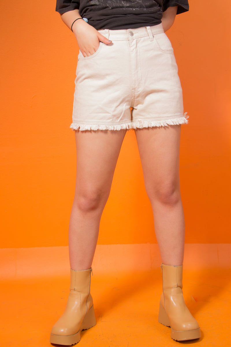 Vintage - tan Highwaisted shorts