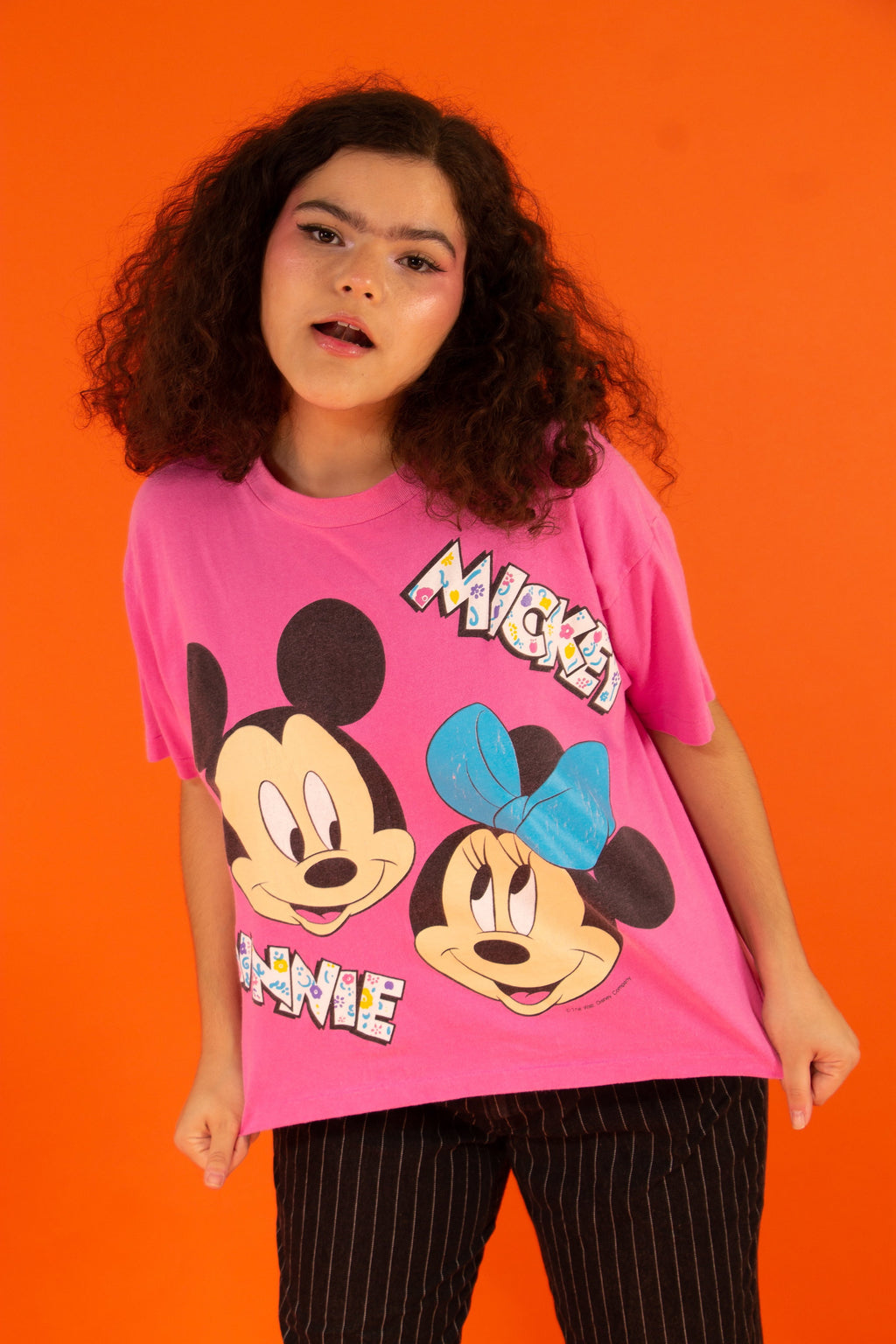80's Mickey & Minnie Crop Top
