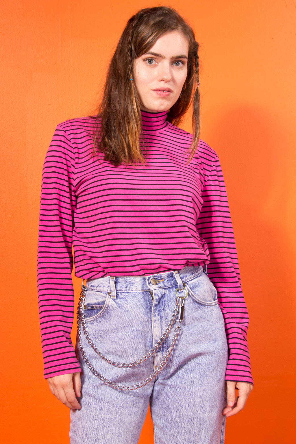 Vintage - Hot pink Grunge turtleneck