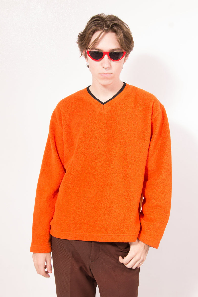 Vintage - Orange fleece gap pullover