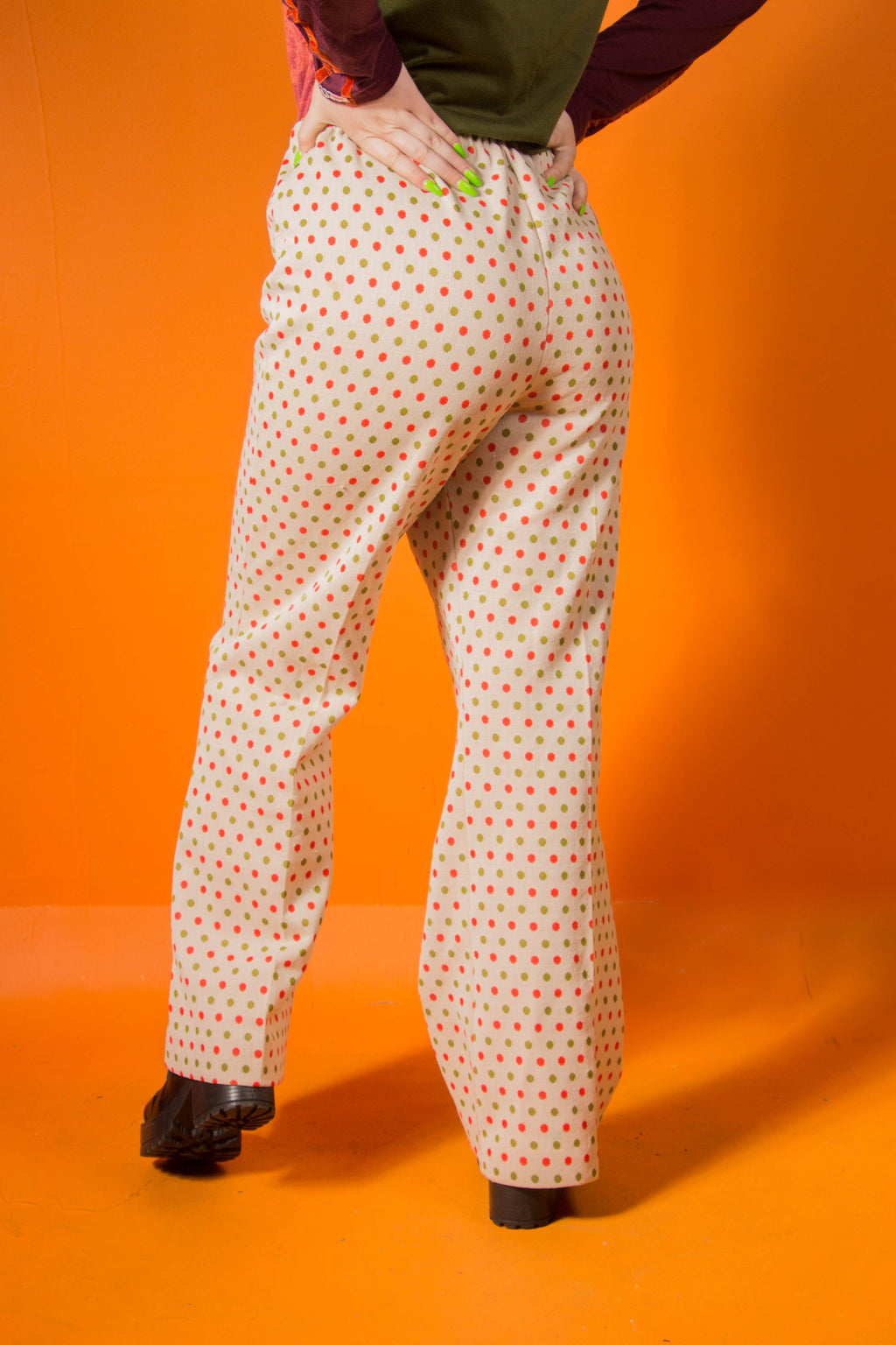 Vintage - 70's pokadotty pants