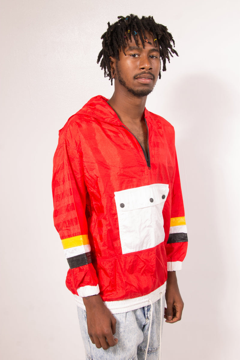 Vintage - Vibin red Pullover windbreaker