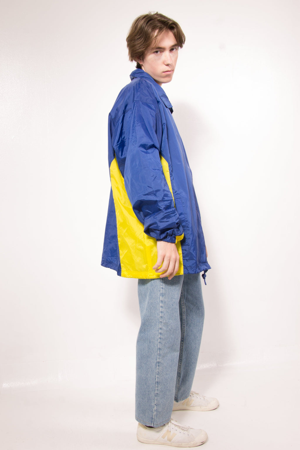 Vintage - blueyellow windbreaker