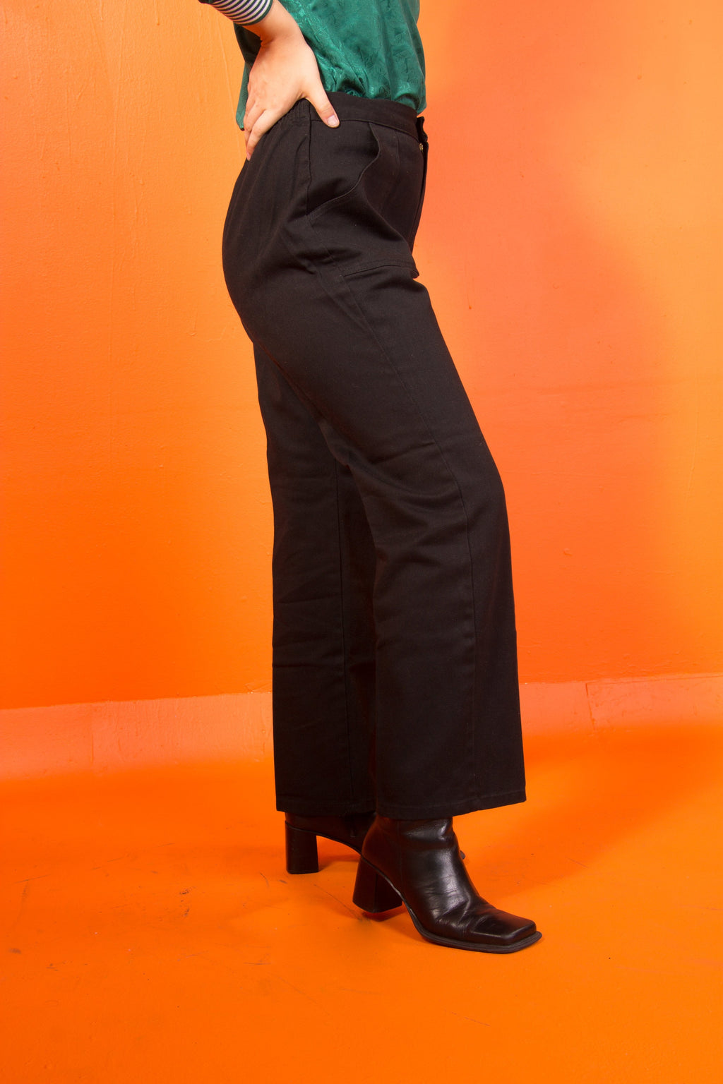 Vintage - Black High waist Pants