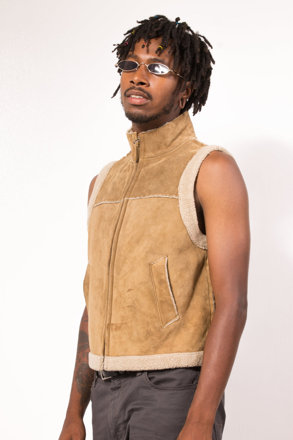 Vintage - fleece gap vest