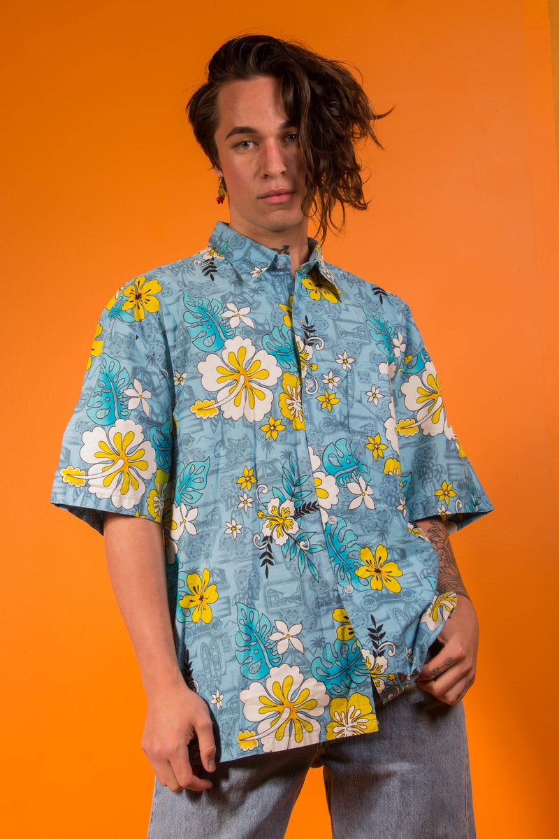 Vintage - Groove Flower Button Up