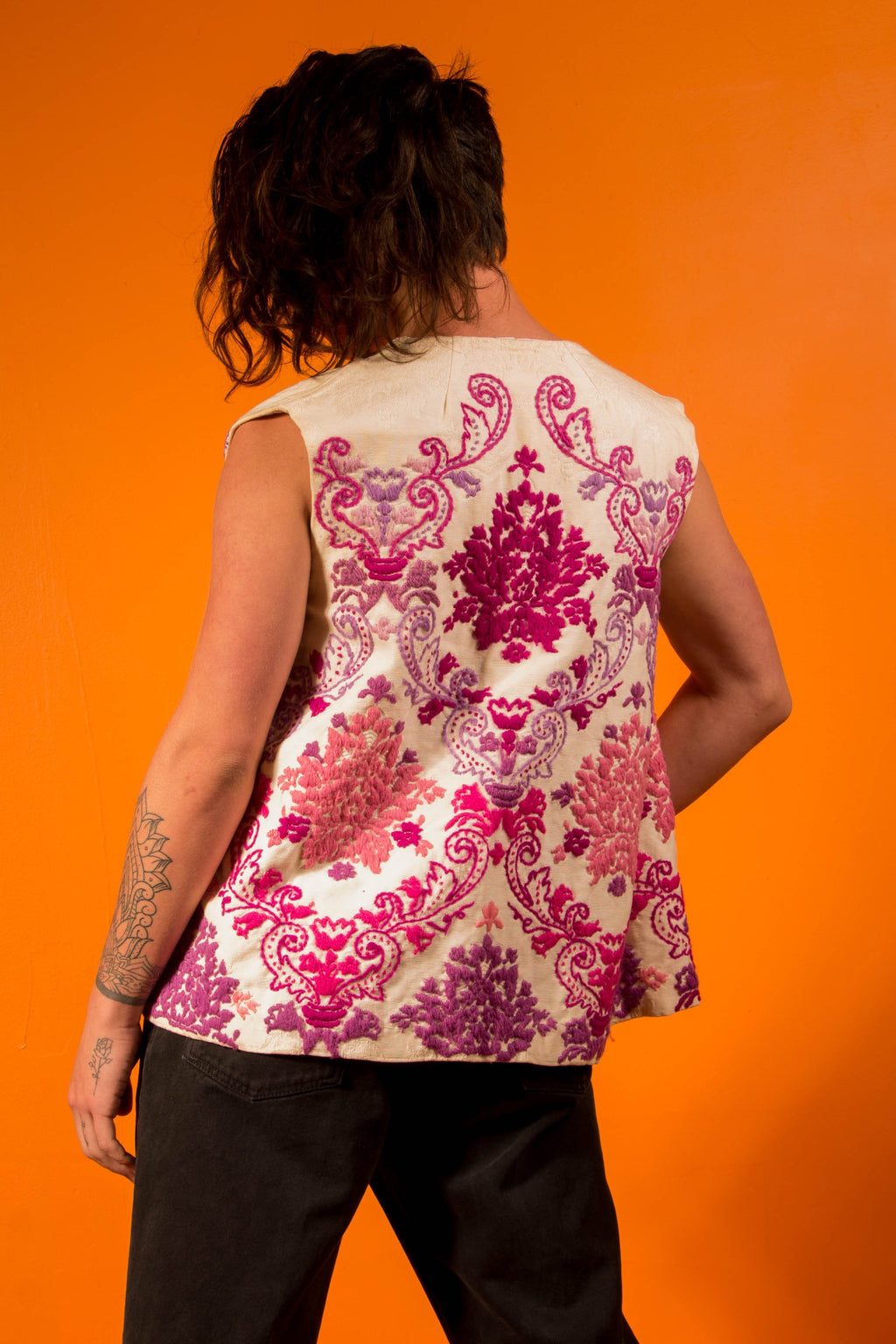 Vintage - Floral Embroidered Vest
