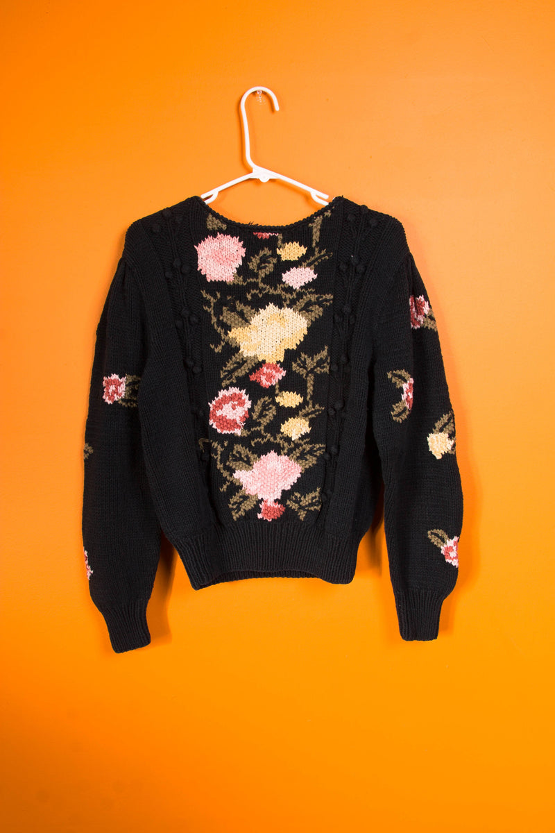 Vintage - Knit Floral sweater