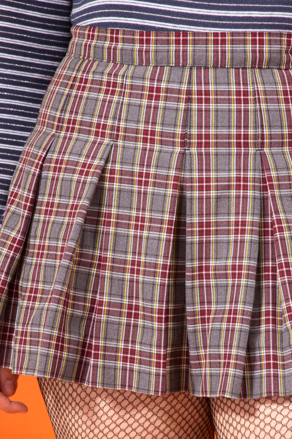 Vintage - mini pleated school skirt