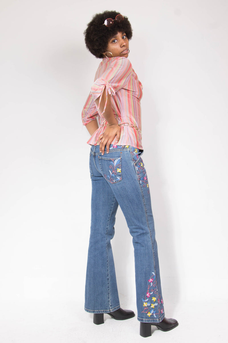 00's Embroidered Floral Tommy Hilfiger Jeans