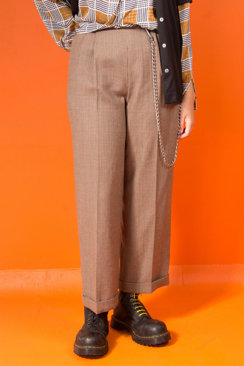 Vintage - houndstooth trousers