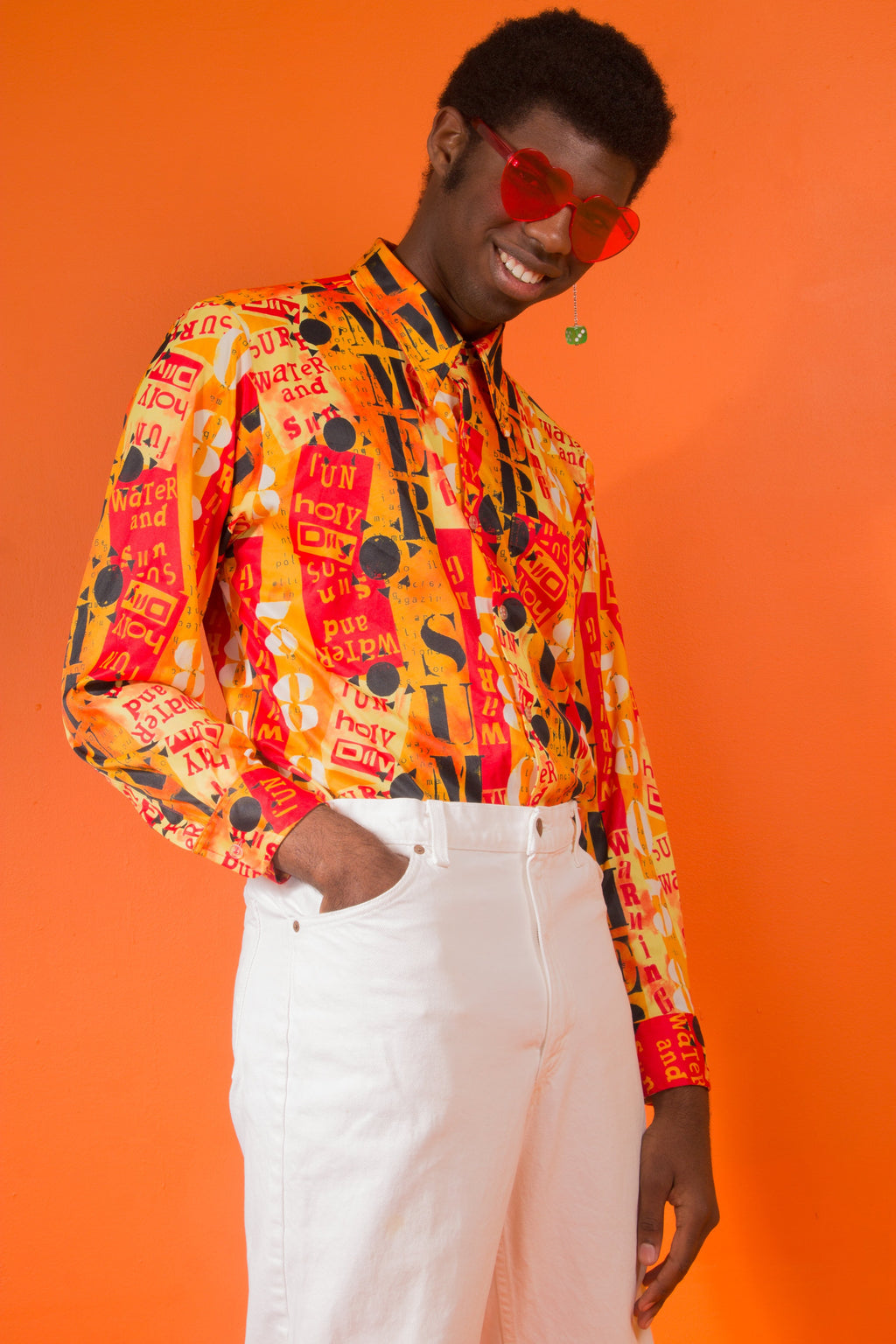 Vintage - 90's fiery word button up
