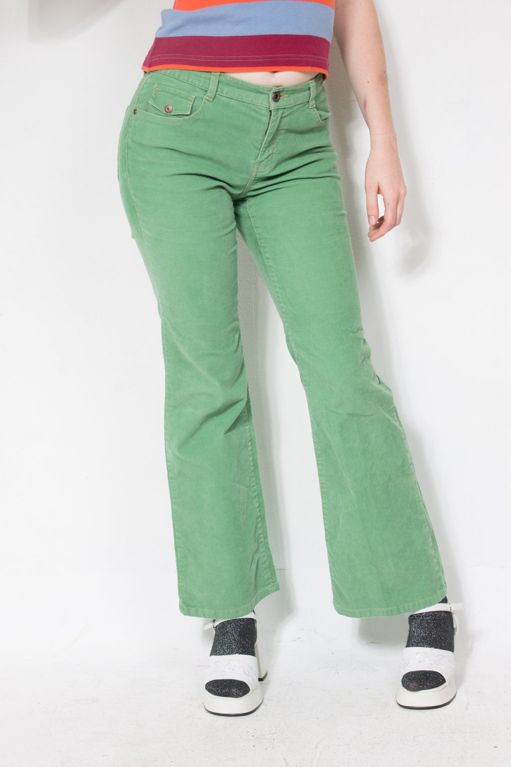 00's Mint Corduroy Pants