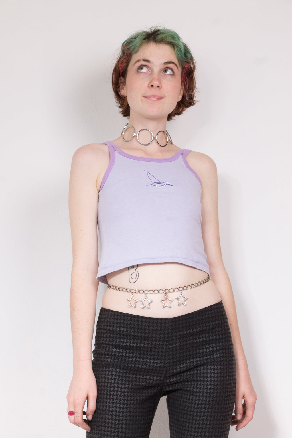 Vintage - Embroidered Sail Crop