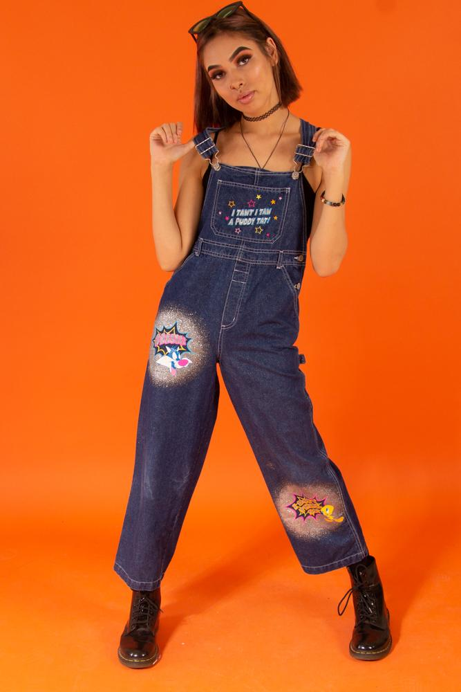 00's Tweety Sylvester Overalls