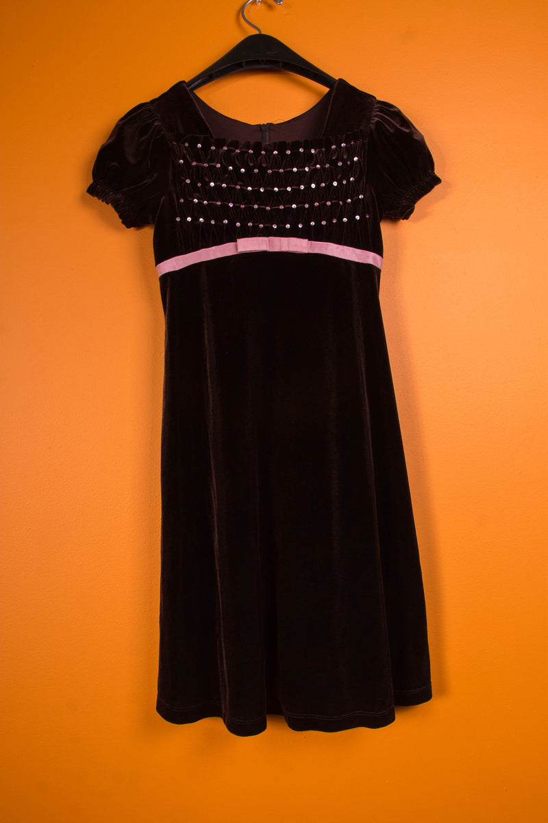Vintage - Brown Velvet Dress