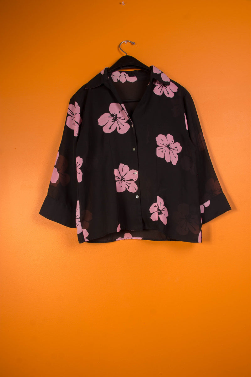 Vintage - Sheer Floral Button Up