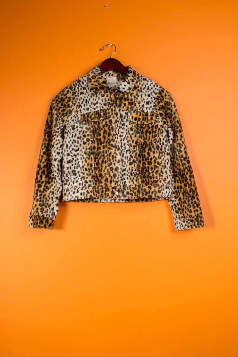 Vintage - Cheetah Crop Jacket