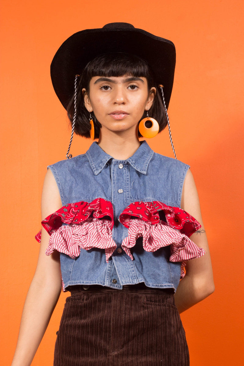 Vintage - cowgirl sally button up