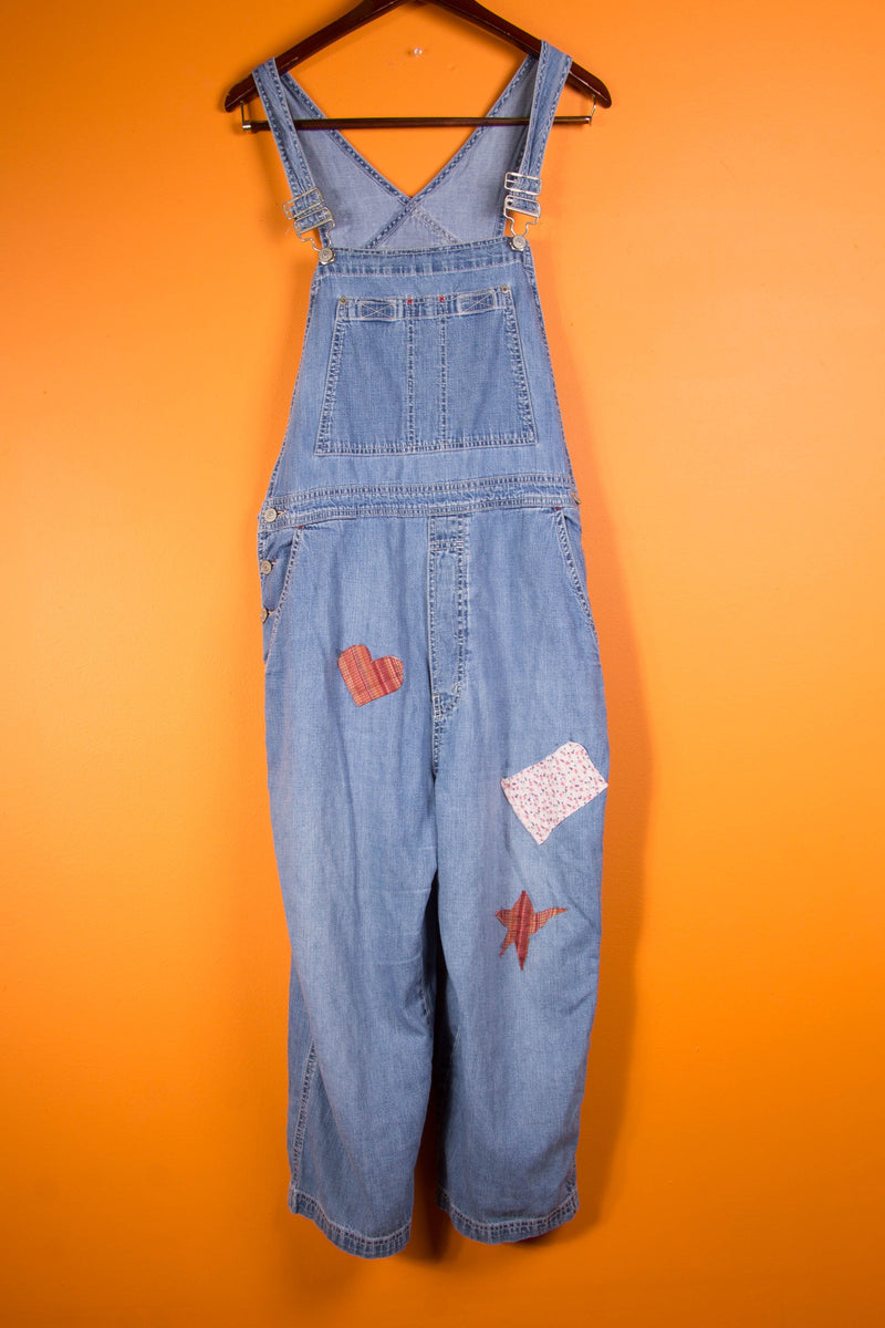 Vintage - heart patch overalls