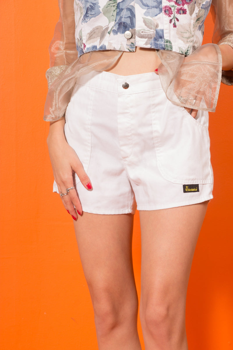 Vintage - 70's white stubbies shorts