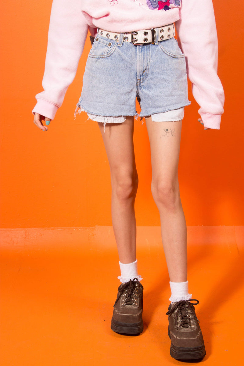 Vintage - raw cut levi's shorts
