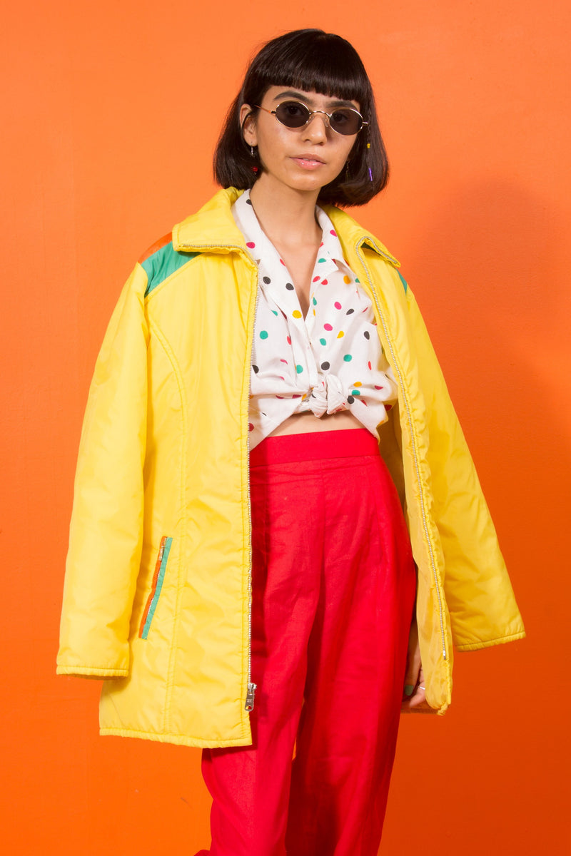 Vintage - 70's yellow rain jacket