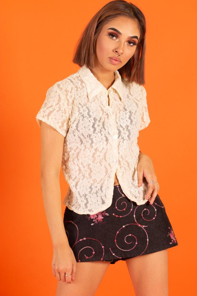 Vintage - Lace Judy Button Up