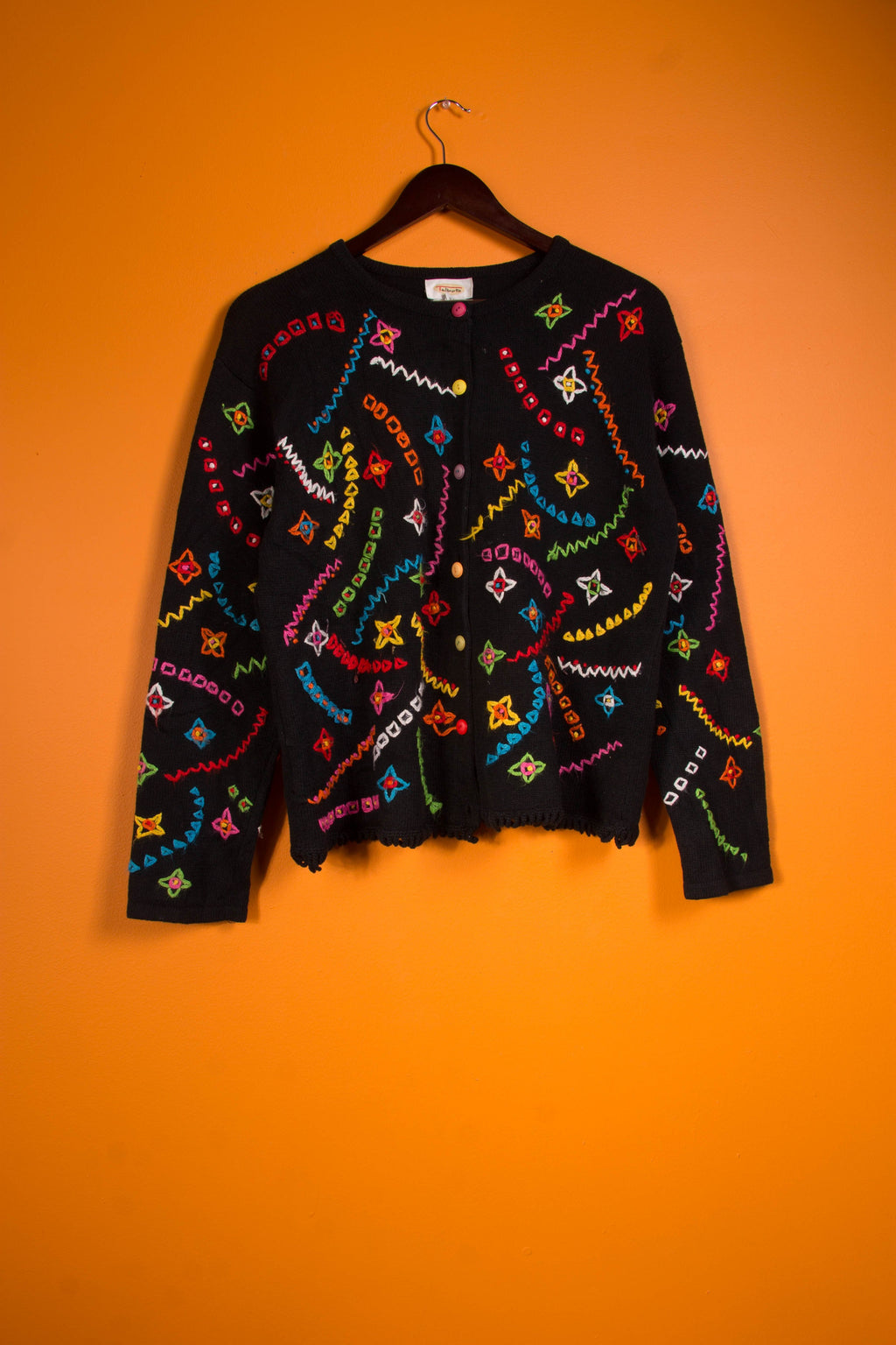 Vintage - Colorful Knit Cardigan