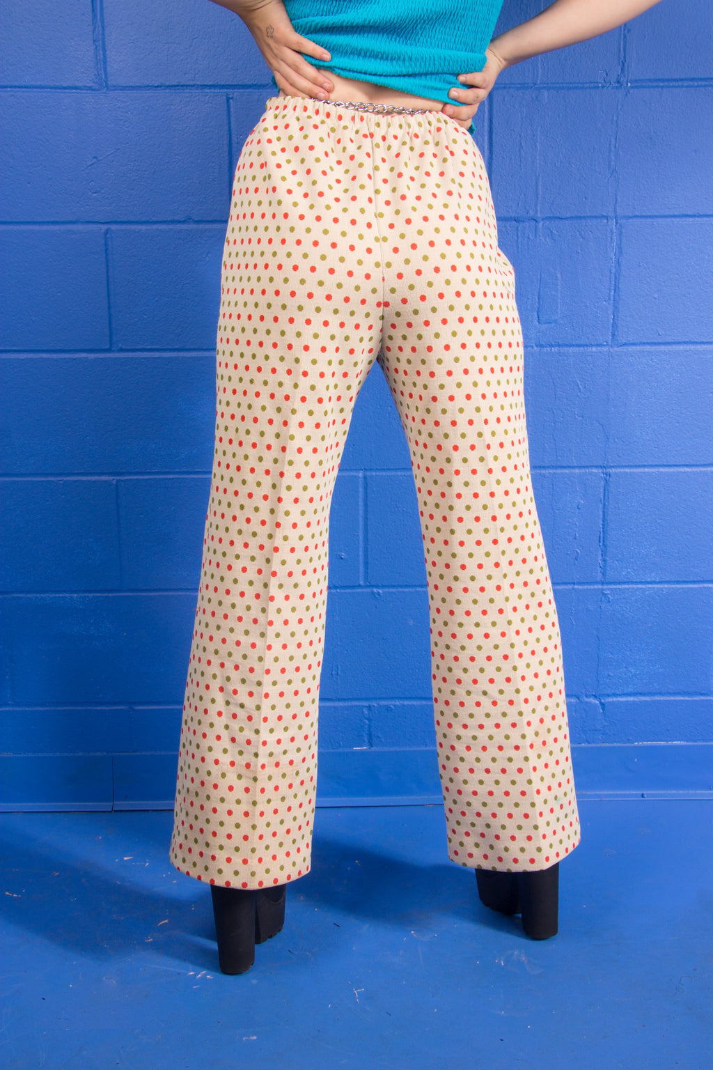 Vintage - 70's polkadotty pants