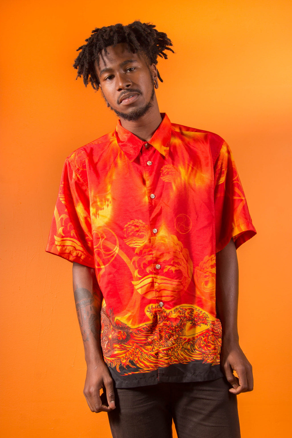Vintage - Dragon Button Up