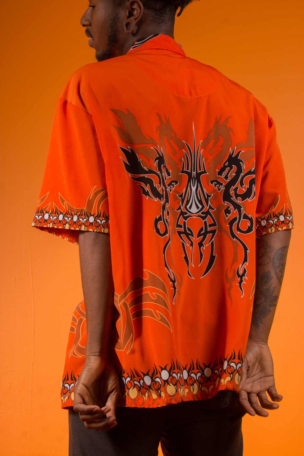 VINTAGE - CYBER DRAGON BUTTON Up