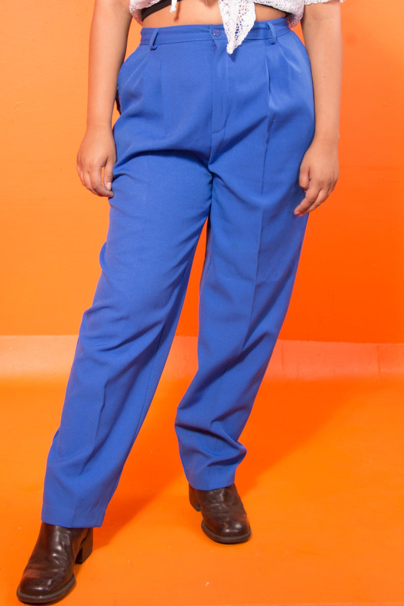 Vintage - Blue Pleated Trousers