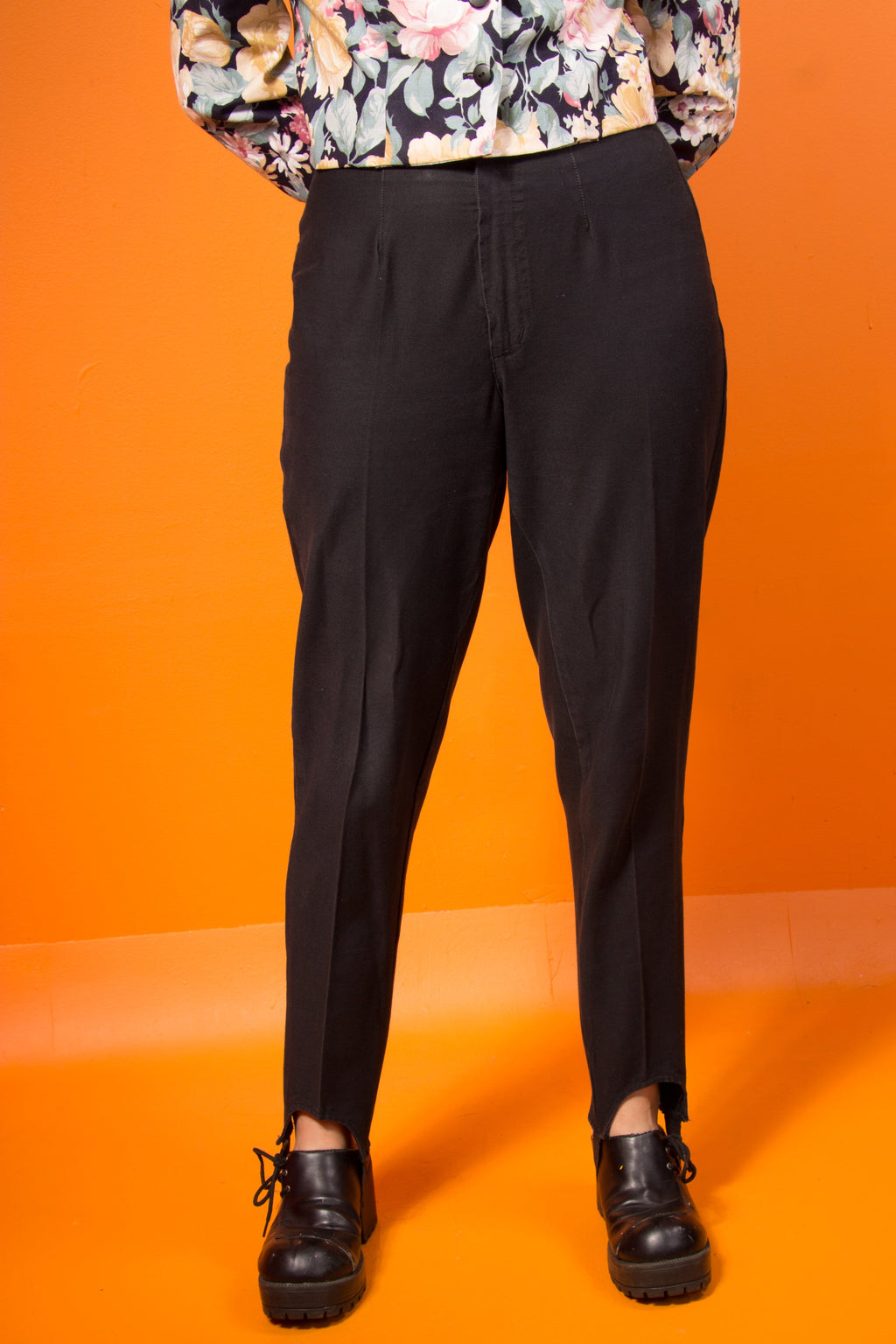 Vintage - Black Stirrup Pants