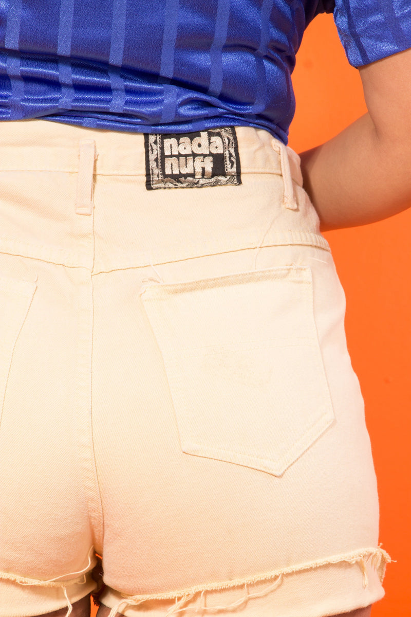 Vintage - yellow high waist shorts