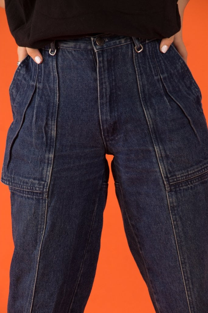 Vintage - Highwaist Blue Zone Jeans