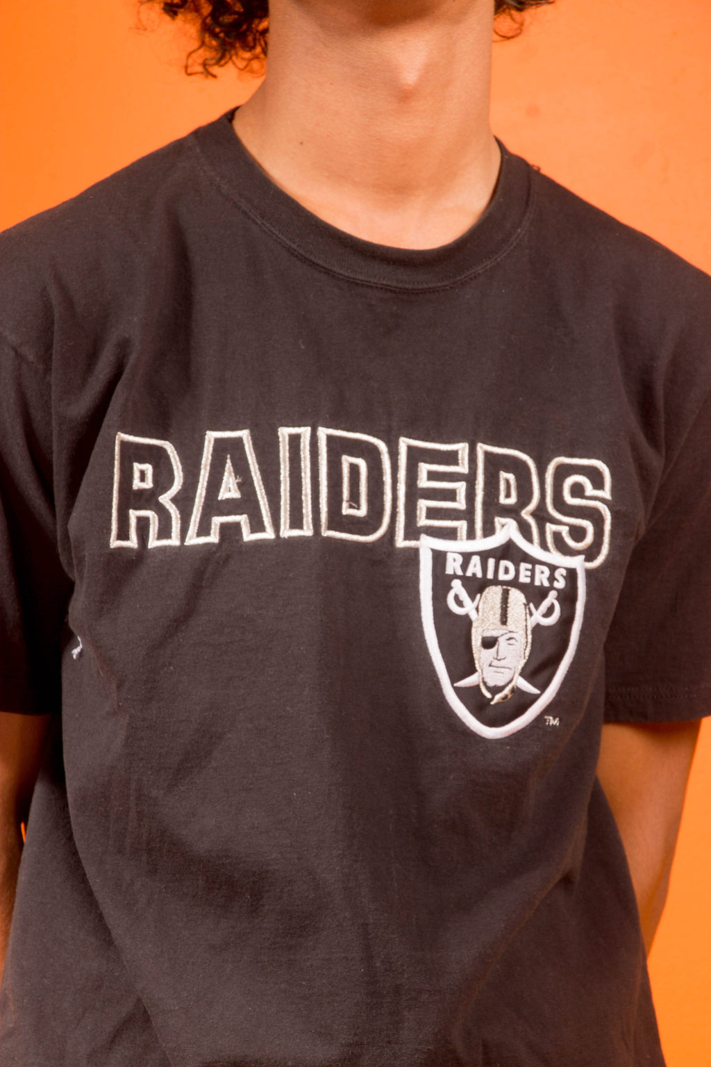 Vintage - embroidered raiders T shirt