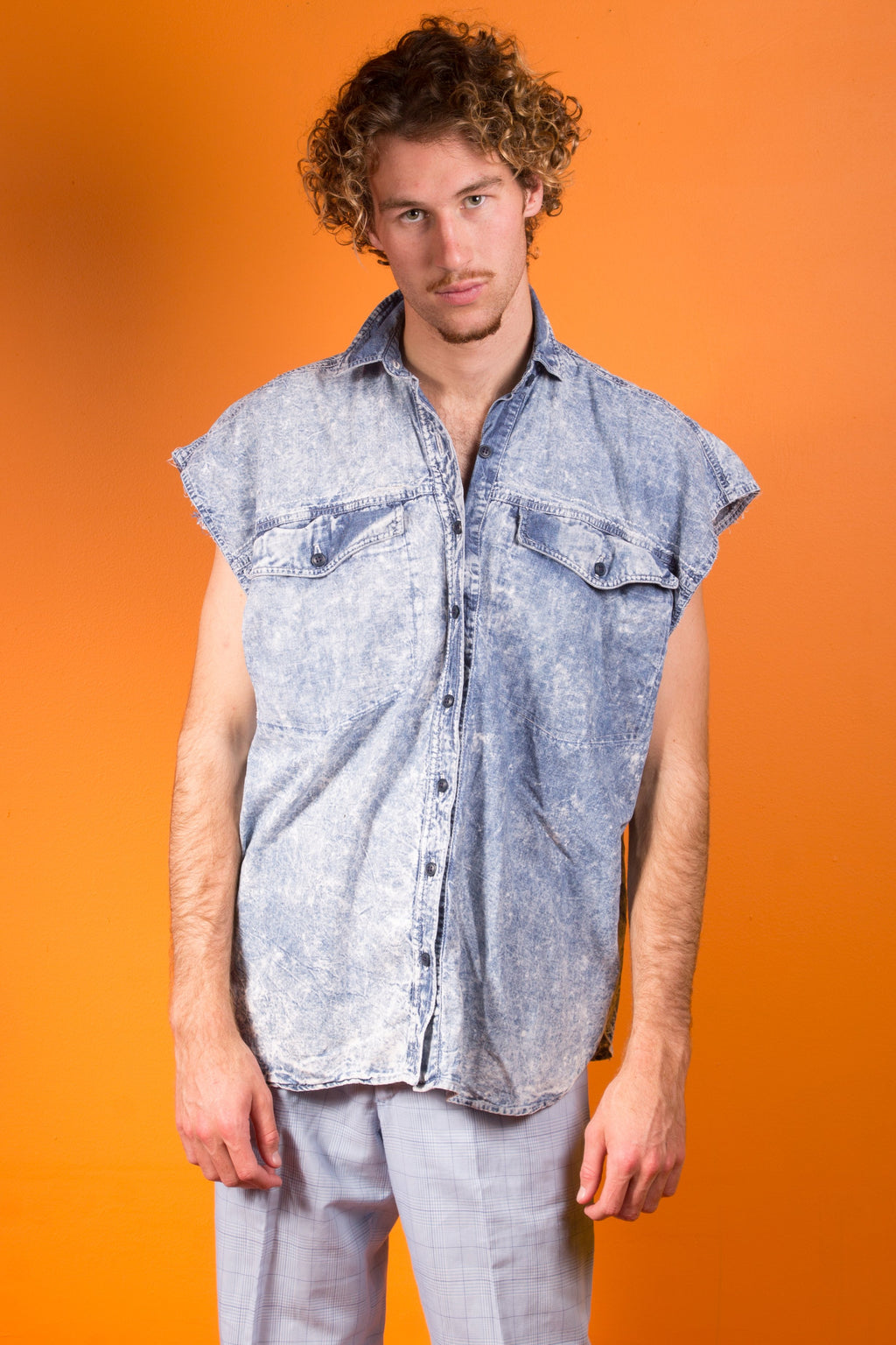 Vintage - Acid Denim Button Up