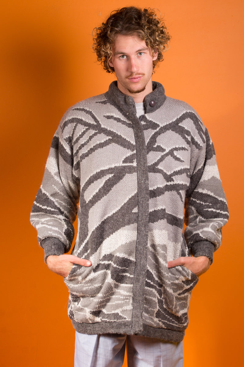 Grey Treetop Sweater