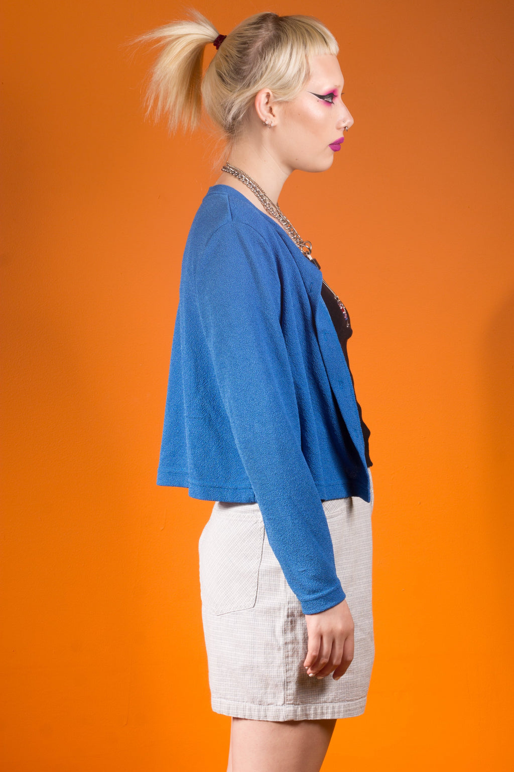 Vintage - Electric Blue Cardigan