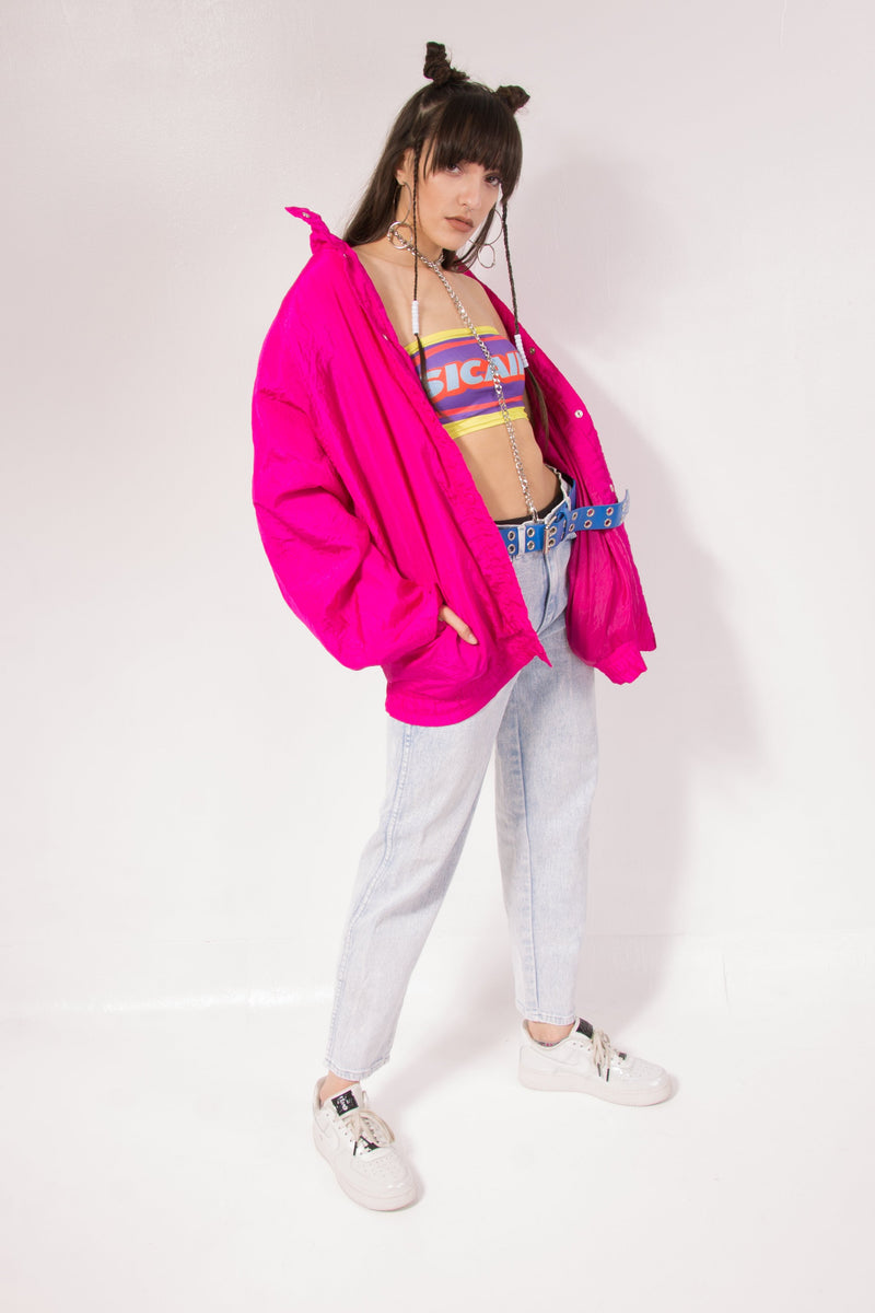 Vintage - hot pink windbreaker