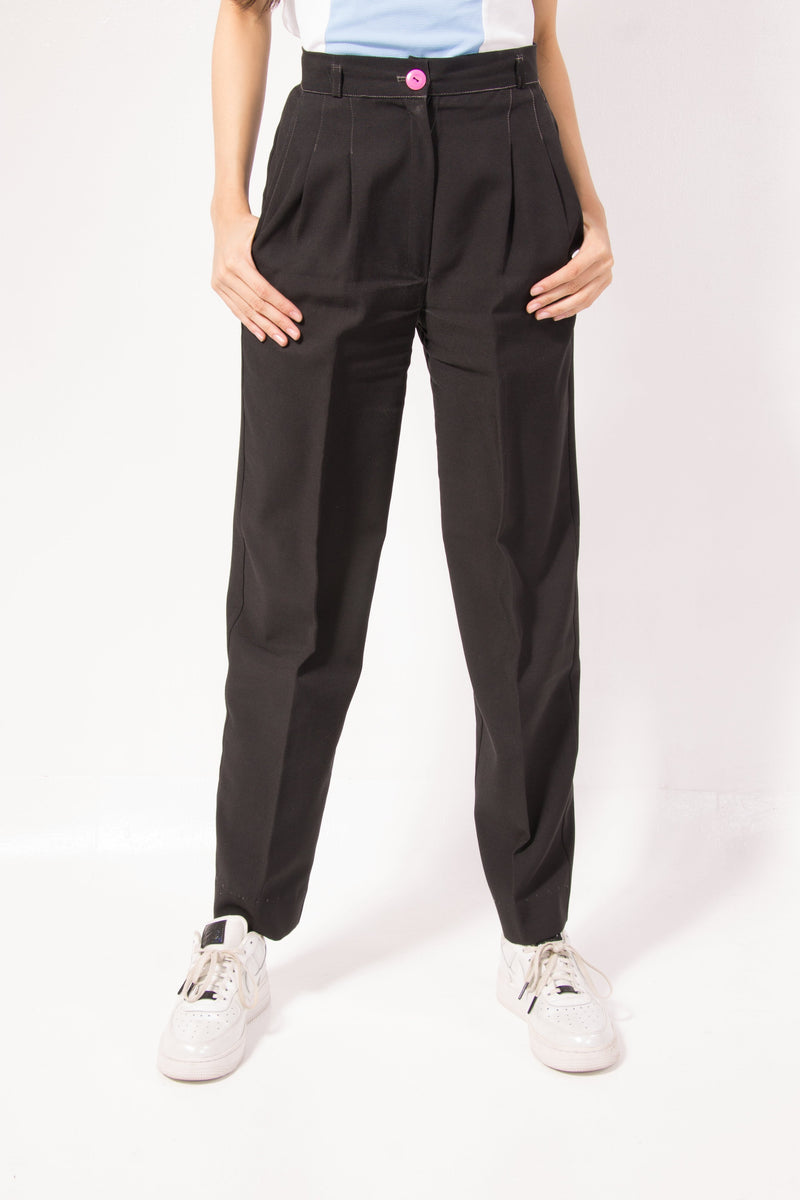 Vintage - Black Pleated Pants