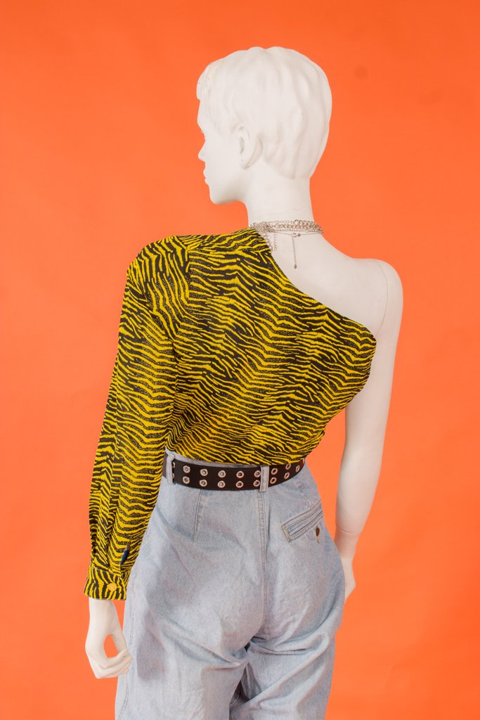 Vintage - Tiger Print Button Up