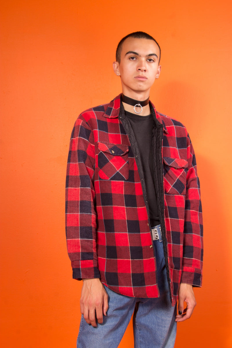 Vintage - flannel padded button up
