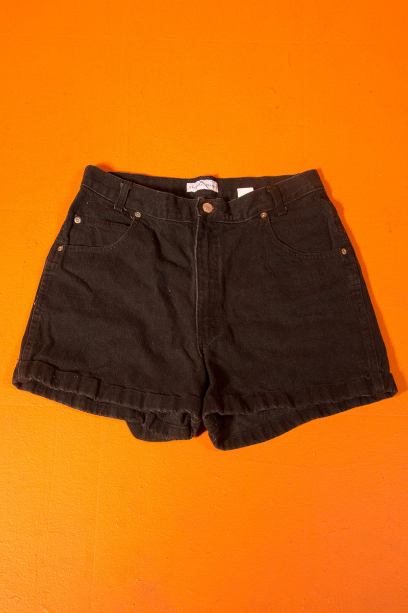 00's Black high waist shorts